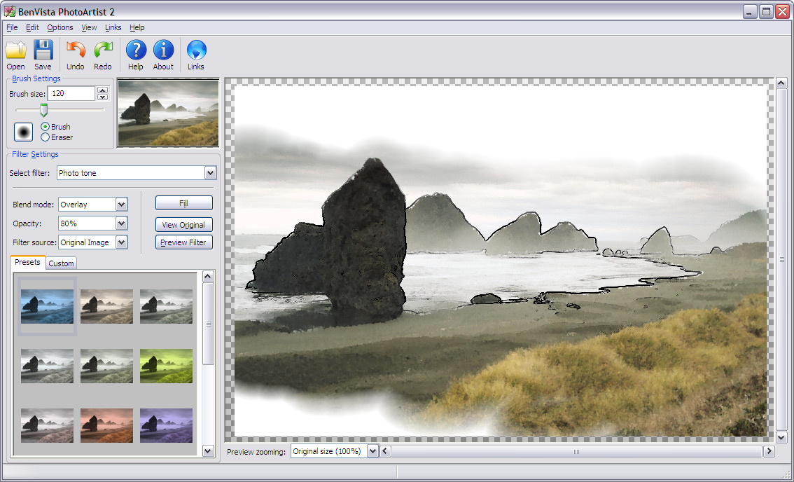 PhotoArtist gives you all the right tools to turn your photos into great artwork
