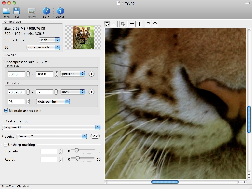 PhotoZoom Classic for Mac 7.1.0 full