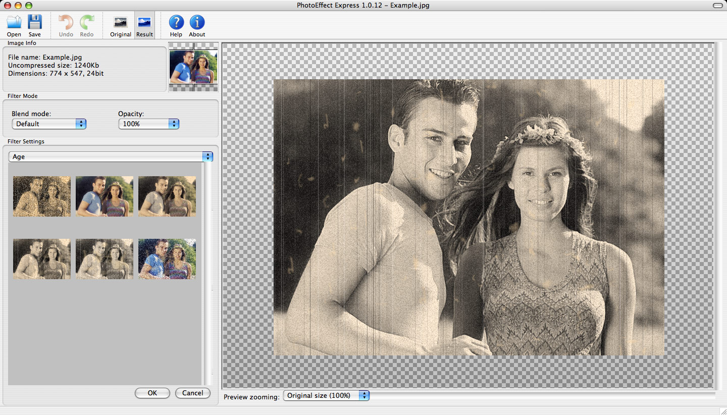 Click to view PhotoMagic for Mac 1.2.8 screenshot